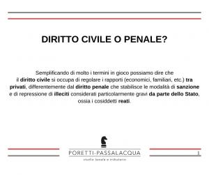diritto civile o penale